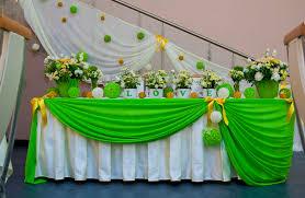 Украшение свадьбы в салатовом цвете недорого