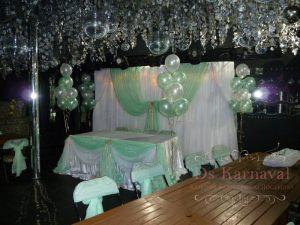 Украшение свадьбы в салатовом цвете дешево