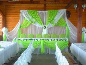 Декор на свадьбу в салатовом цвете недорого цены