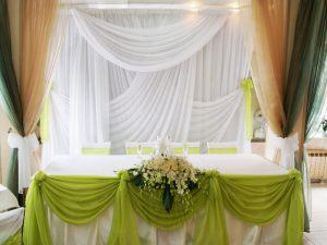 Оформление на свадьбу в салатовом цвете оригинально