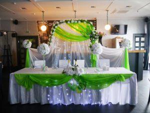 Оформление на свадьбу в салатовом цвете красиво