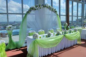 Украшение на свадьбу в салатовом цвете фото