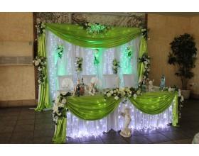Декор на свадьбу в салатовом цвете фото