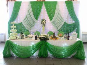 Оформление на свадьбу в салатовом цвете недорого цены