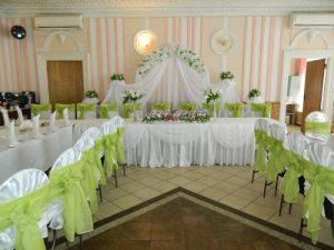 Оформление на свадьбу в салатовом цвете недорого