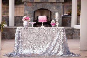 Украшение на свадьбу в серебряном цвете недорого в Москве