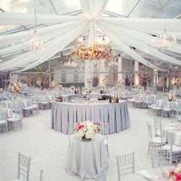 Украшение свадьбы в серебряном цвете фото и цены