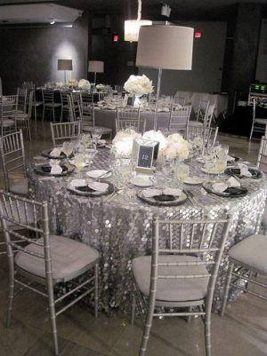 Оформление свадьбы в серебряном цвете недорого цены