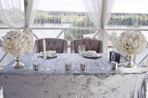 Украшение свадеб в серебряном цвете оригинально