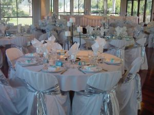Оформление свадьбы в серебряном цвете в Москве