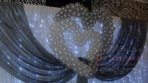 Оформление свадьбы в серебряном цвете недорого в Москве