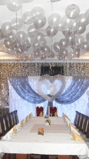 Оформление свадьбы в серебряном цвете фото и цены