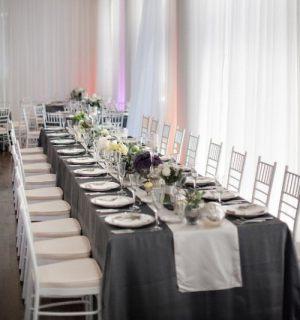Украшение на свадьбу в сером цвете оригинально