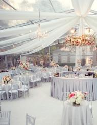 Оформление на свадьбу в сером цвете фото