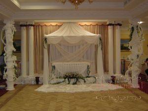 Оформление свадьбы в цвете шампань оригинально