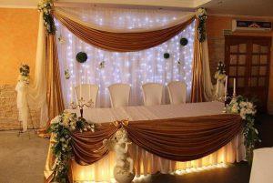 Украшение свадьбы в шоколадном цвете оригинально