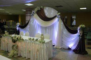 Украшение свадеб в шоколадном цвете недорого