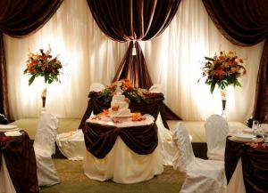 Декор свадьбы в шоколадном цвете оригинально