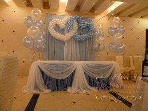 Декор свадьбы в синем цвете недорого цены