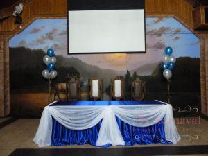 Декор свадьбы в синем цвете красиво