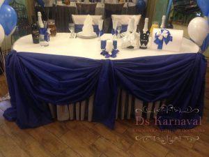 Декор свадеб в синем цвете недорого в Москве