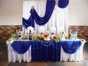 Украшение свадьбы в синем цвете оригинально