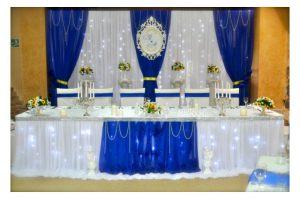 Декор свадеб в синем цвете оригинально