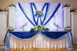 Украшение свадьбы в синем цвете недорого в Москве