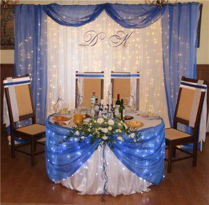 Декор свадеб в синем цвете в Москве