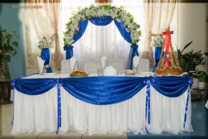 Украшение свадеб в синем цвете недорого