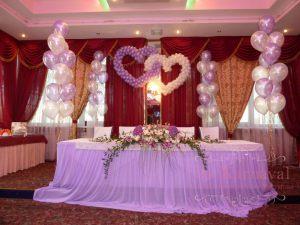 Декор свадьбы в сиреневом цвете дешево
