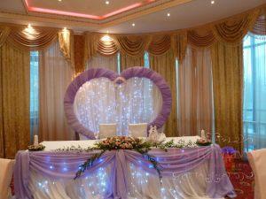 Оформление на свадьбу в сиреневом цвете дешево