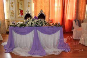 Декор свадьбы в сиреневом цвете недорого