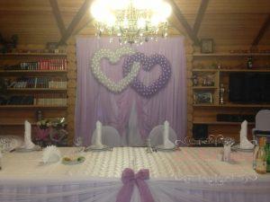Декор на свадьбу в сиреневом цвете фото