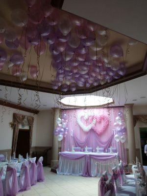 Оформление на свадьбу в сиреневом цвете фото