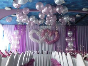 Украшение свадьбы в сиреневом цвете фото