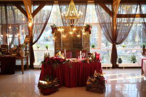 Украшение на свадьбу в винном цвете фото и цены