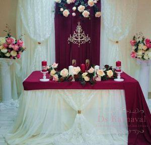 Украшение на свадьбу в винном цвете фото