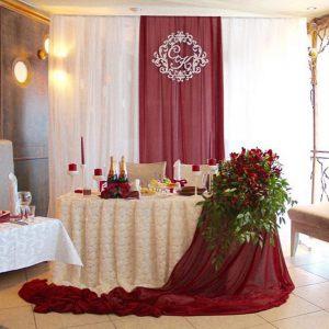 Оформление свадеб в винном цвете фото и цены