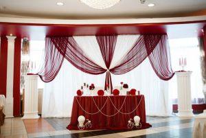 Оформление на свадьбу в винном цвете недорого цены