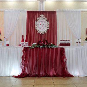 Украшение на свадьбу в винном цвете дешево