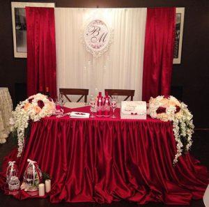 Оформление свадеб в винном цвете красиво