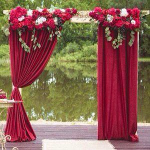 Оформление на свадьбу в винном цвете оригинально