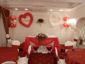 Оформление на свадьбу в вишневом цвете фото