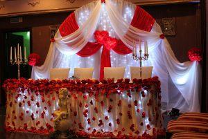 Декор на свадьбу в вишневом цвете фото и цены
