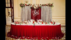 Декор на свадьбу в вишневом цвете цены