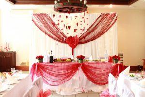 Оформление свадьбы в вишневом цвете дешево