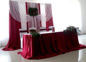 Украшение свадьбы в вишневом цвете фото и цены