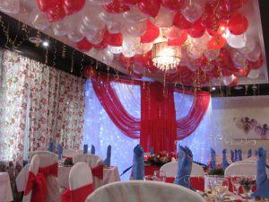 Оформление свадеб в ярком тоне красиво