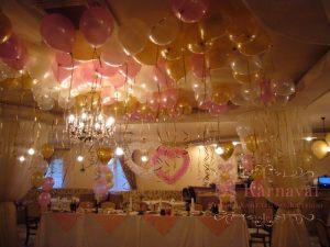 Украшение на свадьбу в ярком тоне в Москве